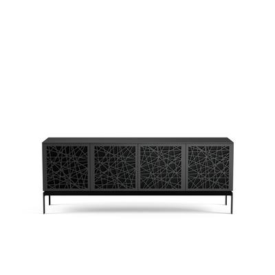 BDI Elements 8779 with Ricochet Doors, Console Base and Charcoal Finish