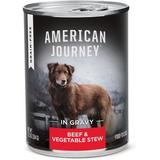 American Journey Stews Beef & Vegetables Recipe in Gravy Grain-Free Canned Dog Food, 12.5-oz, case of 12