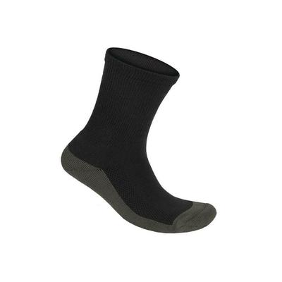 #1 Non Constricting Diabetic Arthritis Seam Free Extra Roomy Bamboo Crew Extra Wide Width Charcoal Gray BioSoft Socks | OrthoFeet, Small / Charcoal