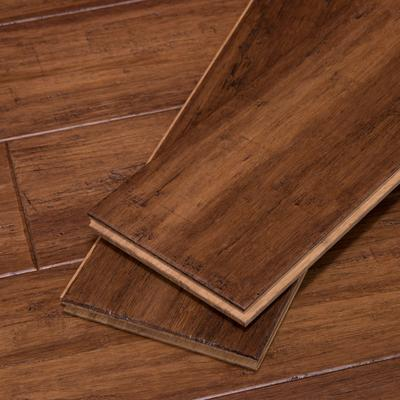 Strand Woven Bamboo Flooring in Bourbon Barrel by Cali Bamboo, Sample