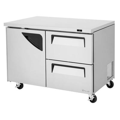 Turbo Air TUF-48SD-D2-N 12 cu ft Undercounter Freezer w/ (2) Sections, (1) Door & (2) Drawers, 115v on Sale