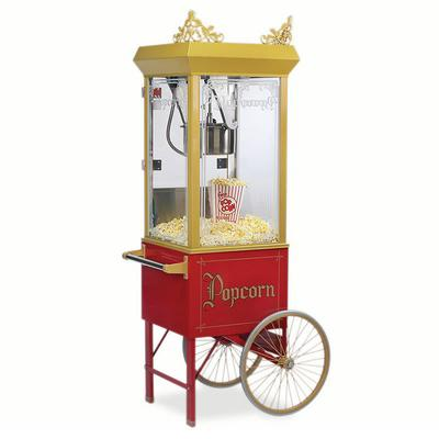 Gold Medal 2131 8 oz Gay 90s Pinto Popcorn Machine w/ Etched Glass & Gold Dome, 120v on Sale
