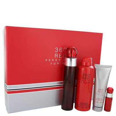 Perry Ellis 360 Red For Men By Perry Ellis Gift Set - 3.4 Oz Eau De Toilette Spray + .25 Oz Mini Edt