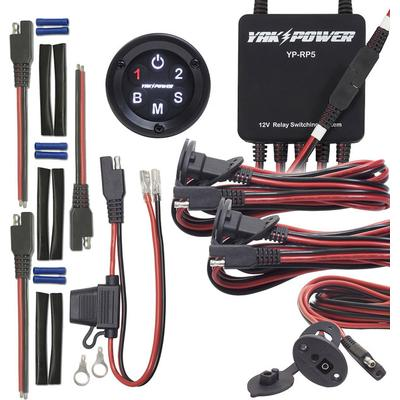 SERIOUS Complete System allows you to install a fish finder, LED lights, and even more on your kayak,also requires a battery and a Yak Power Power Pack