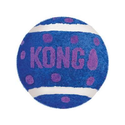 KONG Tennis Balls with Bells Cat Toy; The KONG Tennis Balls with Bells Cat Toy promotes healthy exercise and fulfills your cat's instinctual desire to chase, hunt and capture. These tennis balls boast nonabrasive felt, so they won't harm teeth during...