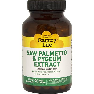 Country Life Saw Palmetto & Pygeum Extract-90 Vegi Caps