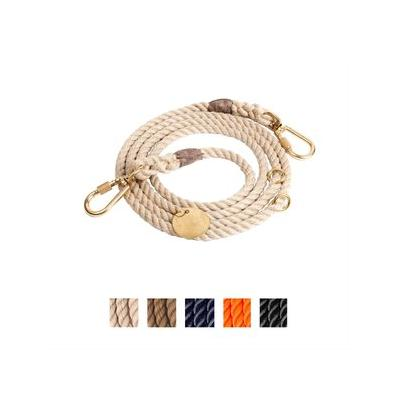 Found My Animal Adjustable Rope Dog Leash, Light Tan, 7-ft, Small