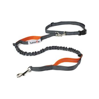 Tuff Mutt Hands-Free Bungee Leash, Gray & Orange