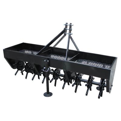 """The Yard Tuff 3-point Plug Aerator is the perfect tool for aerating your soil. This tool has a wide working width to allow for fast and efficient work. The coring plugs each measuring 5.83""""; penetrate up to 3"""" deep into the ground to effectively aerate..."""