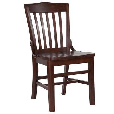 Flash Furniture XU-DG-W0006-WAL-GG Hercules School House Restaurant Chair - Wood, Walnut on Sale