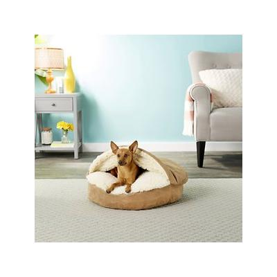 Snoozer Pet Products Luxury Microsuede Cozy Cave Dog & Cat Bed, Camel, Small; Make doggie and kitty naptime more comfy with the Snoozer Pet Products Luxury Microsuede Cozy Cave Dog & Cat Bed. Both durable and fashionable, this nest-style bed provides a...