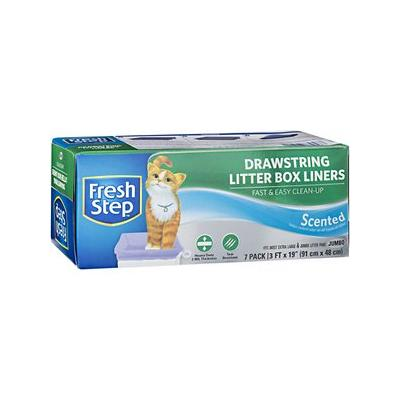 Fresh Step Drawstring Litter Box Liner, 7 count, Jumbo, Scented