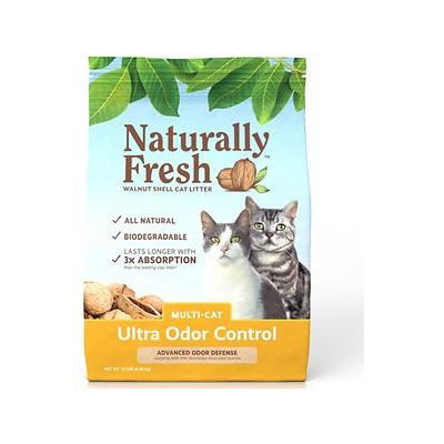 Naturally Fresh Walnut-Based Ultra Odor Control Multi-Cat Quick-Clumping Cat Litter, 14-lb bag