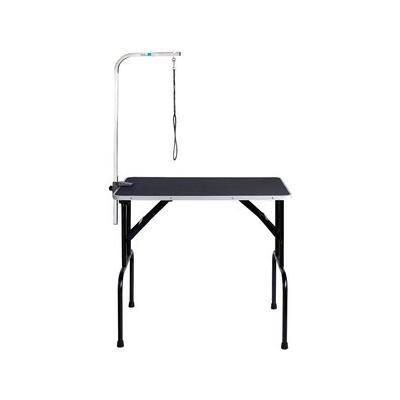 Master Equipment Dog Grooming Table with Arm, Black, 36-inch