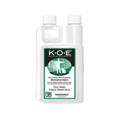 Thornell K.O.E. Kennel Odor Eliminator Concentrate, 16-oz bottle; Banish stinky smells with Thornell's K.O.E. Kennel Odor Eliminator Concentrate! This veterinarian favorite is specifically designed to remove offensive odors from cages, runs, kennels...