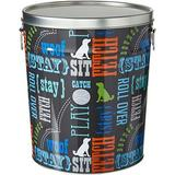 Paw Prints Pet Food Storage Bin, Word Design,15-lb