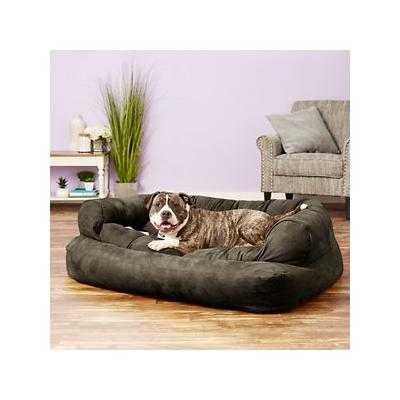Snoozer Pet Products Luxury Overstuffed Dog & Cat Sofa, Dark Chocolate, X-Large; Tell your furry pal to pick out his favorite movie and get settled into the Snoozer Pet Products Luxury Overstuffed Dog & Cat Sofa. The ultimate lounge spot for your...