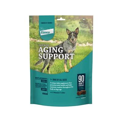 Alenza Soft Chews Whole Body Comfort Chicken Flavor Dog Supplement, 90 count; A healthy dog is a happy dog—that's why Alenza Soft Chews Whole Body Comfort Chicken Flavor Grain-Free Dog Supplements contain so much goodness for your pup. The patented...