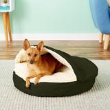 Snoozer Pet Products Cozy Cave Covered Cat & Dog Bed w/Removable Cover, Olive, Small
