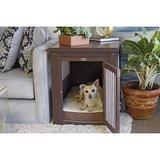 New Age Pet ecoFLEX Single Door Furniture Style Dog Crate & End Table, Russet, Small