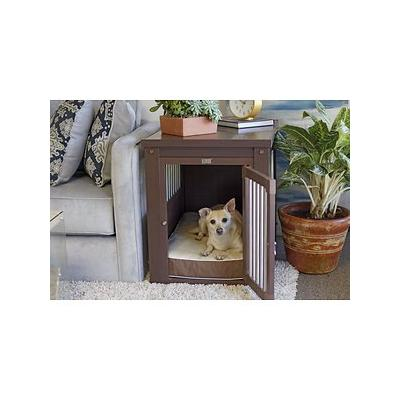 New Age Pet ecoFLEX Crate & End Table, Russet, Small