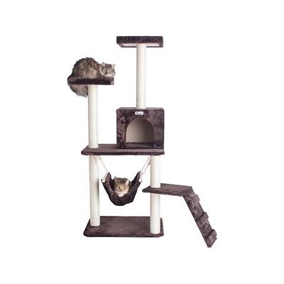 Armarkat 57-in GleePet Cat Tree with Ramp, Brown