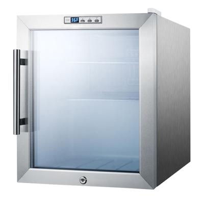 Summit SCR215LCSS 17 Countertop Refrigerator w/ Front Access - Swing Door, Stainless, 115v on Sale