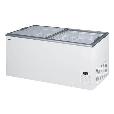 Summit NOVA53 61 Mobile Ice Cream Freezer w/ (4) Wire Storage Baskets - White, 115v on Sale