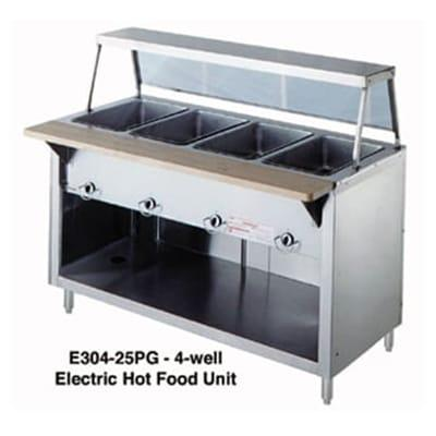 Duke 304-25SS 60 Hot Food Unit w/ 4 Dry Heat Wells, Stainless Top, Body & Shelf, LP on Sale
