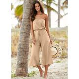 Strapless Jumpsuit Cover-ups - Pink
