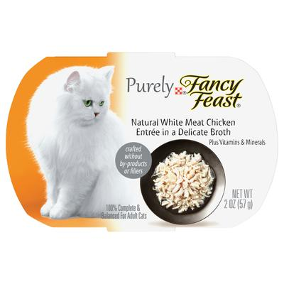 Fancy Feast Purely Naturals Chicken Adult Wet Cat Food Trays, 2 oz., Case of 10, 10 X 2 OZ
