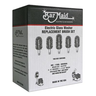 Bar Maid BRS-1720SL Glass Washer Universal Replacement Slotted Brush Set, 5 Pc. on Sale