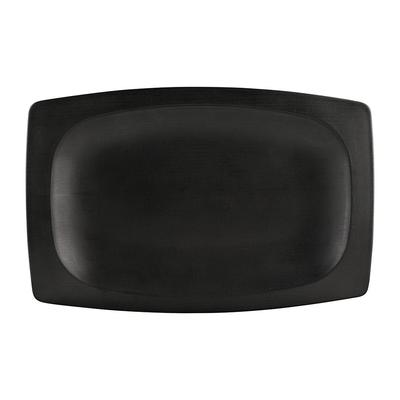 Elite Global Solutions ECO1258 Rectangular Greenovations Platter - 12.5 x 8.25, Melamine/Bamboo, Black on Sale