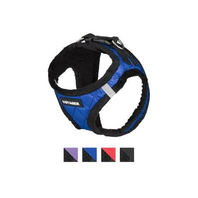 Best Pet Supplies Voyager Padded Faux Leather Dog Harness, Royal Blue, Medium