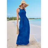 Maxi Dress With Pockets Dresses - Blue