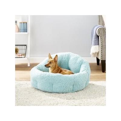 Best Friends by Sheri Jumbo OrthoComfort Sherpa Deep Dish Cuddler Dog & Cat Bed, Teal, Jumbo