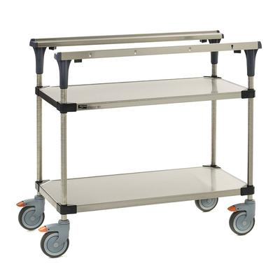 Metro MS1836-FGFG 2 Level Mobile PrepMate MultiStation w/ Solid Shelving - 38L x 19.4W x 39.13H on Sale