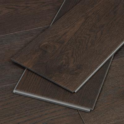 Wide Click, Water Resistant Hardwood Flooring, Dark Brown, Sample