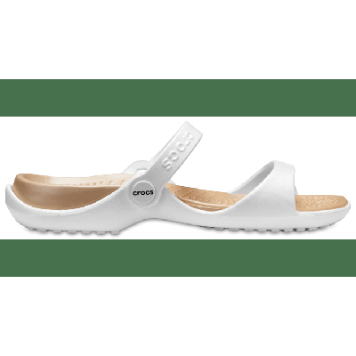 Crocs Oyster / Gold Women's Cleo Sandal Shoes