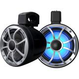 Wet Sounds RECON 6 POD-B 6.5 Tower Speakers, Black Open Grille