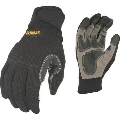 DEWALT Men's Secure Fit General Utility Work Gloves - Black/Gray/Yellow, XL, Model DPG217XL