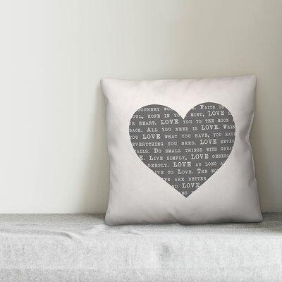 Love Definition Heart Throw Pillow
