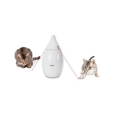 PetSafe Zoom Rotating Laser Cat Toy, White; Keep your playful pet entertained with the Zoom rotating laser cat toy from PetSafe. This unique, battery-operated toy delivers boundless fun thanks to the two, automatic lasers at the base. The purr-fect...