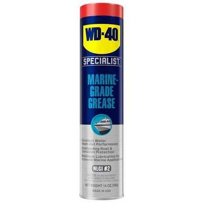 Water Resistant Grease, NLGI Grade 2, Base Oil Mineral, Container Size 14 oz., Lubricant NSF Rating Not Rated, Grease Thickener Lithium Complex, Grease Color Blue, Grease Container Cartridge, Lubricant Additives Petroleum Distillates, Min. Operating...