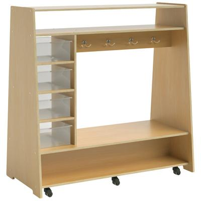 """Whitney Brothers WB1734 Mobile Dress Up Center with Trays and Mirror - 23 1/2"""" x 48"""" x 49 3/16"""""""