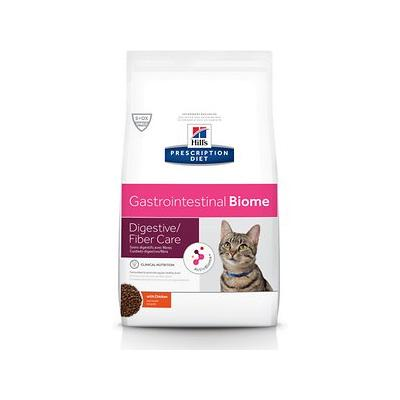 Hill's Prescription Diet Gastrointestinal Biome Digestive/Fiber Care with Chicken Dry Cat Food, 8.5-lb bag