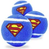 Buckle-Down Superman Squeaky Tennis Ball Dog Toy, 3 pack