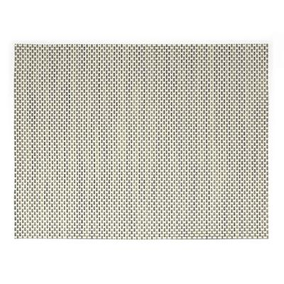 Front of the House XPM038TAV83 Rectangular Metroweave Placemat - 16 x 12, Woven Vinyl, Tan on Sale