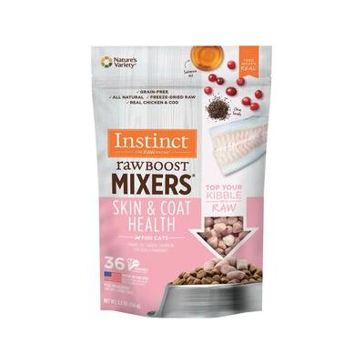 Instinct by Nature's Variety Freeze-Dried Raw Boost Mixers Grain-Free Skin & Coat Health Recipe Cat Food Topper, 5.5-oz bag