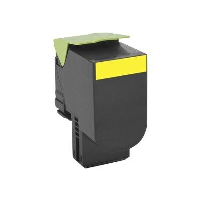 Lexmark 700X4 - Extra High Yield - yellow - original - toner cartridge LCCP - for Lexmark CS510de, CS510dte